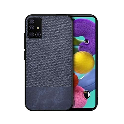 Jeelar Funda para Samsung Galaxy A32 4G Funda, [Estilismo de Tela de Lona Tejida] Carcasa con Marco de Silicona Suave TPU + PC Back Protección contra Caídas Case Cover.