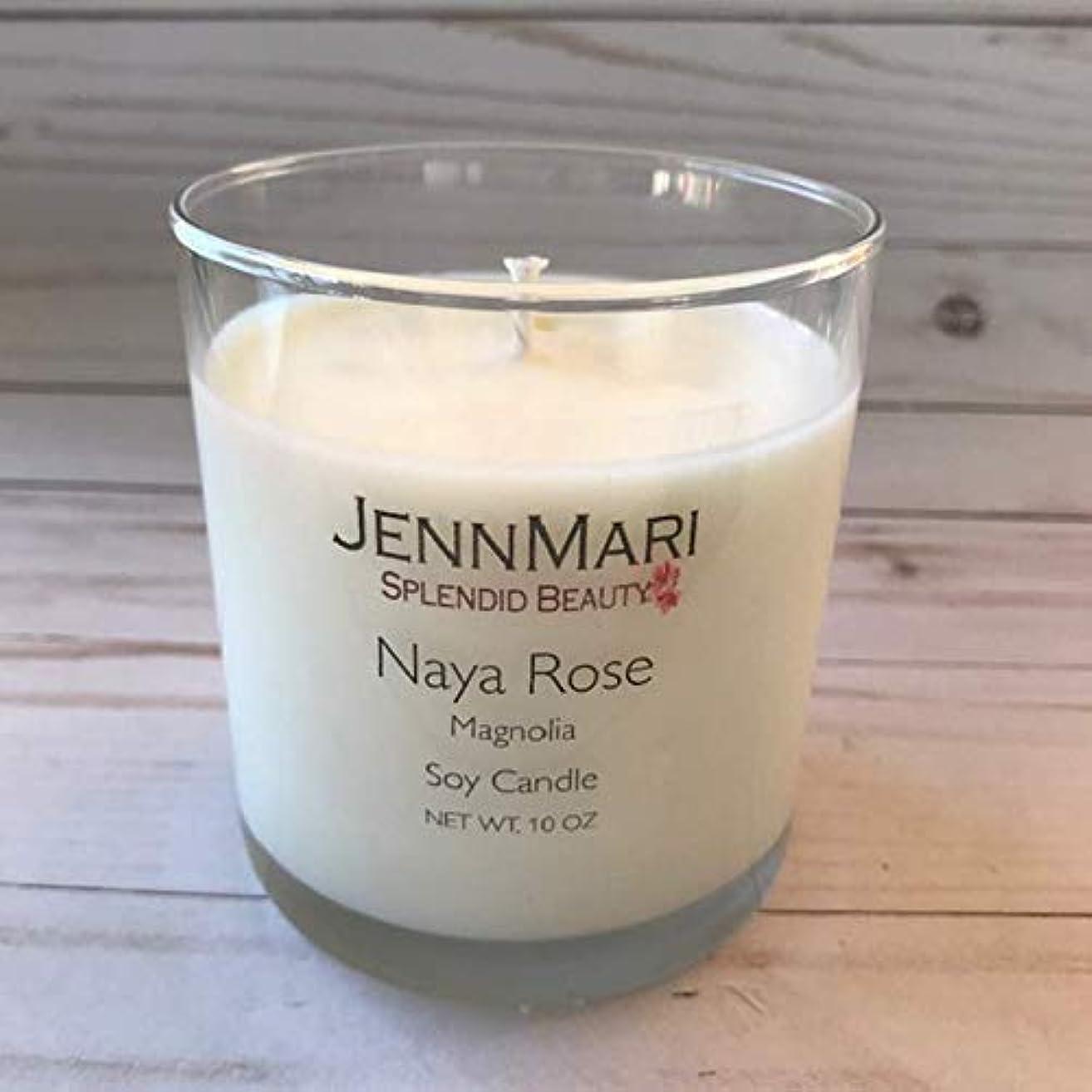 Splendid Beauty   Magnolia Scented Soy Candle Glass Jar   10 Oz   Handmade   Eco-friendly   Vegan   Cotton Wick   100% Soy Wax