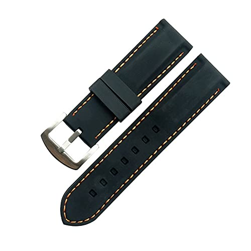Reloj de bolsillo Mire la correa de la banda 20 mm 22 mm 24 mm 26 mm de ancho de la moda suave silicona reloj de la correa de la correa de la correa de la banda de la banda de la banda de la banda de
