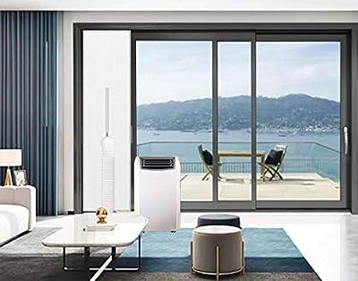 "Sliding Door Vent Kit | 19""x78"" Universal Balcony Zipper Screen Door Seal for Portable A/C and Tumble Dryer by JZKJ"