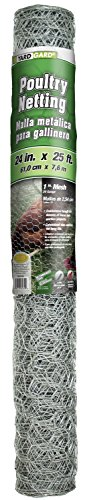 Yard Gard 308404B 24' x 25' 1' Mesh Hexagonal Poultry Netting