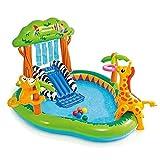 Piscina Piscina para Niños Inflable Piscina para Niños Zona De Juegos De Agua para Niños Castillo Inflable Al Aire Libre (Color : Green, Size : 124.5 * 215.9 * 188cm)