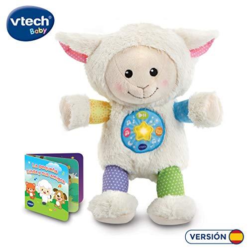 VTech-La pequeña Linda Musical Peluche bebé Interactivo, con Cuentos, Historias y Canciones Que desarrollan el lenguaje y la estimulación Visual y auditiva, Multicolor (3480-506722)