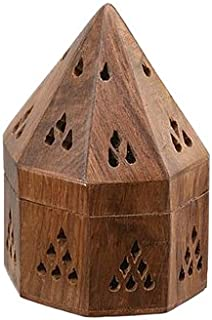 Wooden Incense Holders From India Temple Wooden Charcoal/Cone Burner, 5