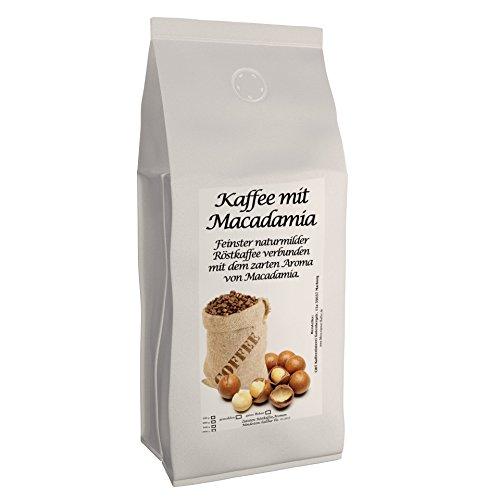 Aromakaffee - aromatisierter Kaffee Macadamia, 1000 g ganze Bohne - Spitzenkaffee - Schonend Und Frisch In Eigener Rösterei Geröstet