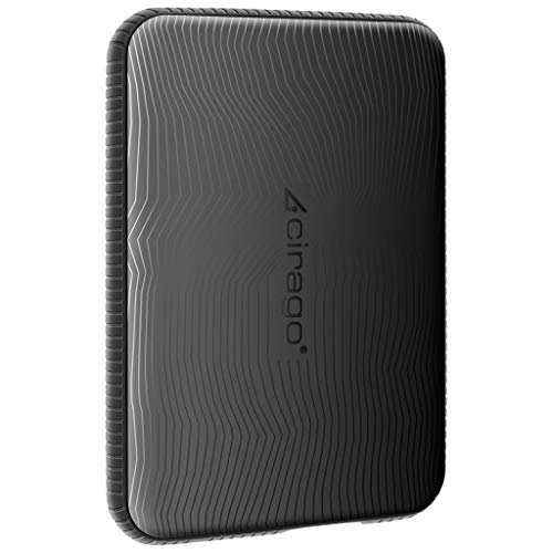 CIRAGO 250GB Disco Duro Externo Portátil Resistente a los Golpes, 2.5 Inch USB 3.0, para PC, Mac, MacBook, Chromebook, Xbox, PS4 (Negro)
