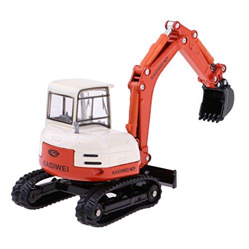 chiwanji 1/50 Diecast Mini Escavatore Digger Engineering Truck Modello di Auto Layout Scena