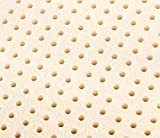 """Queen Natural Talalay Latex Mattress Pad Topper, US Made 2"""" and 3"""" in All Densities 60""""x80"""" (Soft 14-19 ILD, 2"""" Thick)"""