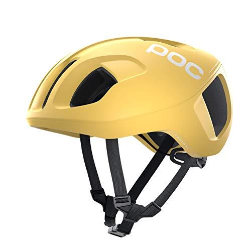POC Ventral Spin, Casco da Bicicletta. Unisex-Adulti, Solfur Yellow Opac, S (50-56cm)
