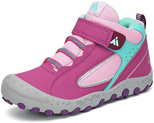 Zapatillas de Trekking Niña Zapatos de Senderismo Niñas Zapatos Deportivos Cómodo Transpirable Antideslizante Montaña Al Aire Libre Morado 30