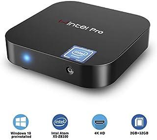 Fanless Mini PC,Intel x5-Z8350 HD Graphics Mini Computer,Windows 10 64-bit,DDR3L 2GB/32GB eMMC/4K/2.4G/5G WiFi/BT 4.2