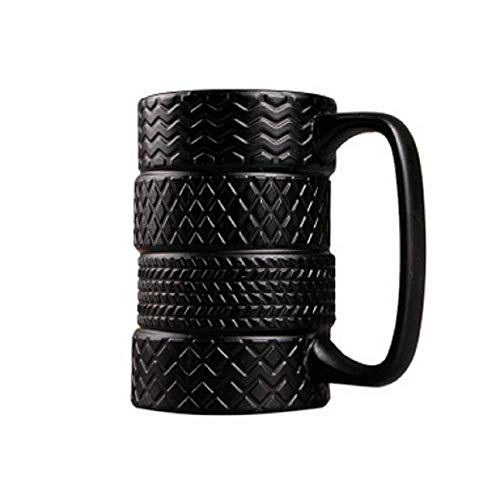 SD&EY Becher Auto Reifen Form Tassen Mit Griff Für Kaffee Wasser Halter Flasche Schwarz