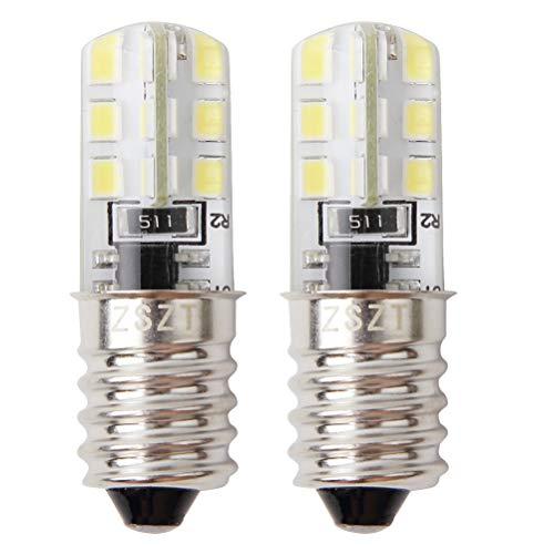 Glühbirne für kühlschrank, E14 LED 2W (25W Halogen Birne gleichwertig) 220V 6000K Weiß, Gerätelampe, Schraubbirne, 2 Stück