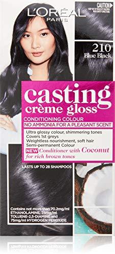 L'Oréal Paris Casting Crème Gloss Semi-Permanent Hair Colour - 210 Blue Black (Ammonia Free)