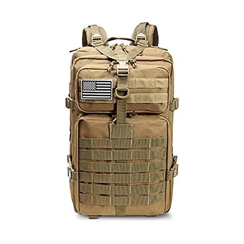 Caqui 50l de Capacidad Hombres del ejército Militar táctica Mochila Grande Impermeable Deporte al Aire Libre Que va de excursión Viaje 3D Mochila Bolsas para los Hombres