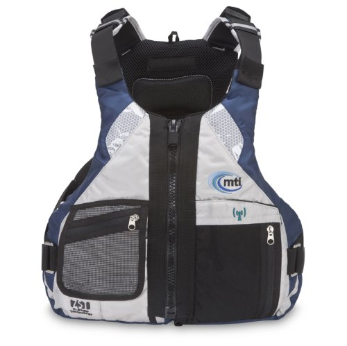 Sale!! MTI Adventurewear Slipstream Performance Paddling SUP PFD Life Jacket (Aluminum/Blue, Large/X...
