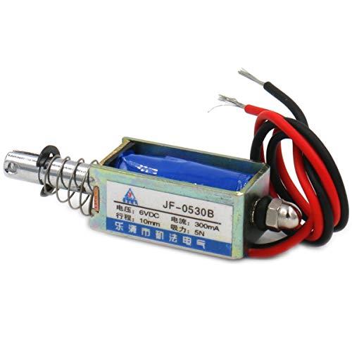 Hechen Elektromagnetnetz JF-0530B DC 6 V 300 mA 5 N 10 mm Hub Push Pull Type Open Frame