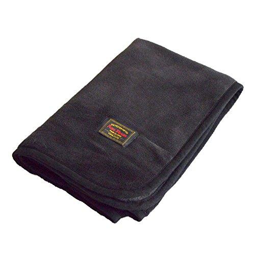 TRANPARAN ひざ掛け マイヤーブランケット 着る毛布 3WAY 70×100cm (ブラック/Mサイズ)