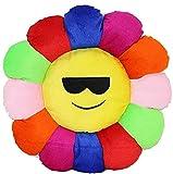 Tharunsha Elite Round Soft Velvet Fabric Cushion Pillow Multi-Colored (Sunglasses) Set of 1