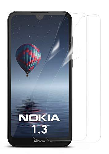 MoEx® Kristallklare HD Schutzfolie kompatibel mit Nokia 1.3 | Bildschirmschutzfolie Kratzfest + Fast unsichtbar, Ultra Klar 2X Stück