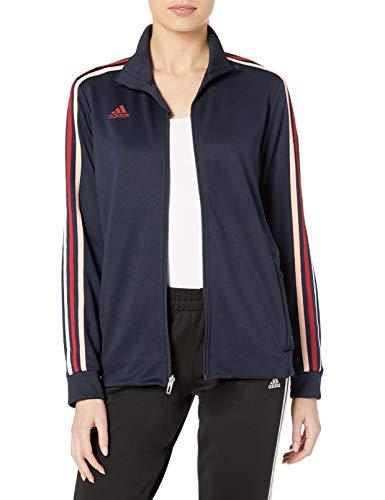 adidas Damen Tiro Sweat-Wicking Fußball Trainingsjacke, Damen, Sweatjacke, Afs Tiro Tr Jkw, dunkelblau, Medium