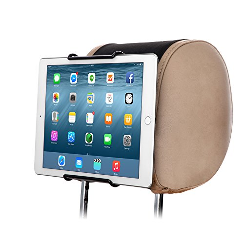 TFY Universal Car Headrest Mount Holder, Fits ALL 7 Inch to 11 Inch Tablets - Apple iPad, iPad 4 (iPad 2 & 3), iPad Air, iPad Mini 2/3/4 - iPad Pro 9.7' - Samsung Galaxy Tab & Note and More