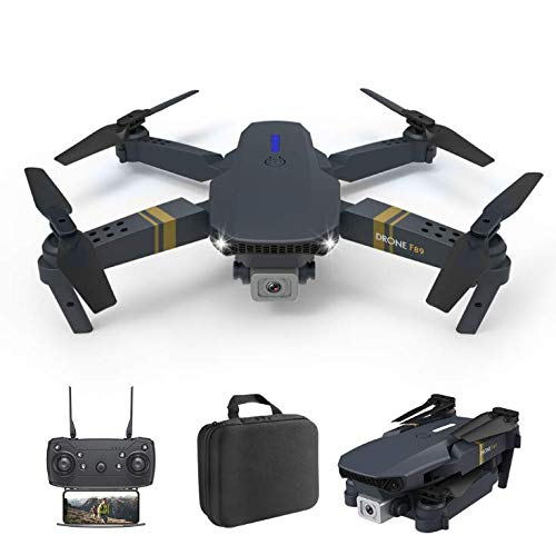 RUOBO Drone with Adult 4K Camera, E89 WiFi High-Definition Real-Time Video, Fixed Altitude in The Air, Headless Mode, One-Button Take-Off, Continuous Flight for 20 Minutes