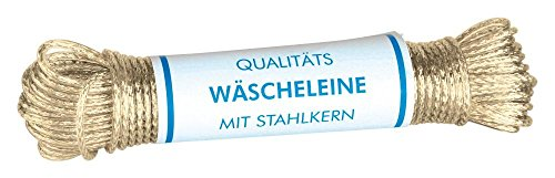 Home Xpert cuerda para tender ropa Tormenta -Completo capa de acero- tendedero, espesor 3,5 mm, longitud: 20 m