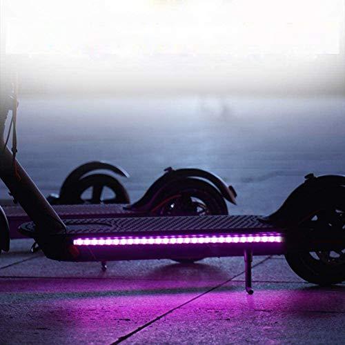 Linghuang Tira LED de advertencia para scooter, linterna, luz nocturna, ciclismo, seguridad, luz intermitente permanente para Xiaomi Mijia M365 M187, accesorios para patinete
