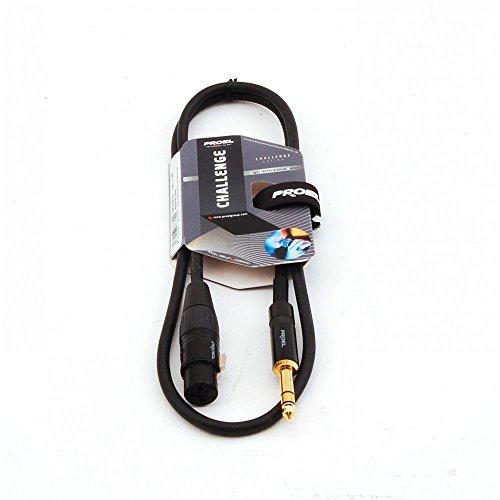 Proel CHL210LU5 - Cavo Professionale Bilanciato Jack Stereo 6,3 a Cannon XLR Femmina da 5mt