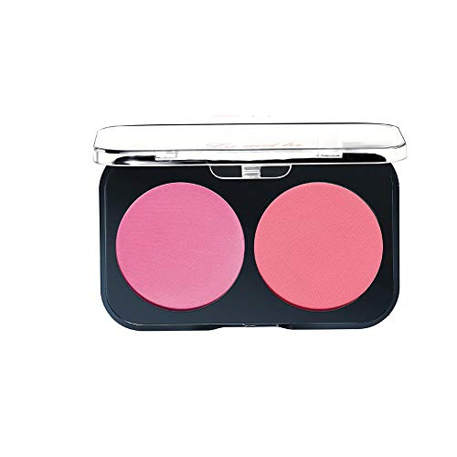 Make-Up Puder Blush Rouge,Blush Duo Peach&Apricot, Rouge, Natural Make-up, 13 g - DAKERTA (B)