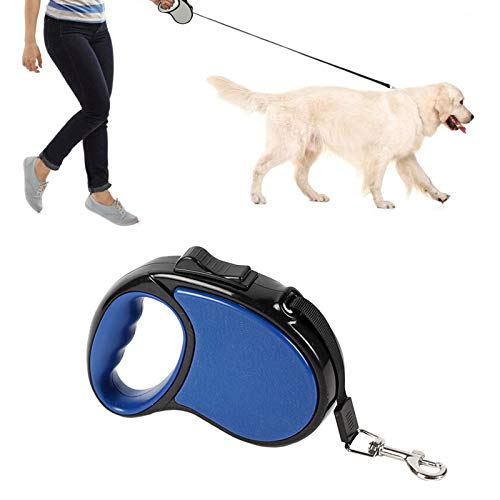 LxwSin Einziehbare Hundeleine 5M, Hundeleine Rollleine, Reflektierend Ausziehbar Einziehbar Führleine Starke Leine, Mittelgroße, Verlängerte Hundeleine, Anti-Rutsch Griff, Sicheres Bremssystem, 20KG