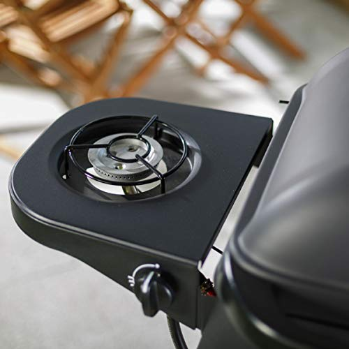 Outback Excel Onyx 2-Burner Gas Trolley BBQ with Side Burner