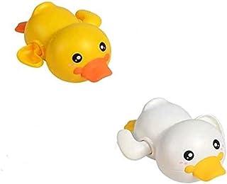 قطعتان من ألعاب حمام الأطفال ويند أب داكس على شكل ساعة ألعاب تعليمية مرحة للاستحمام في حمام السباحة للأطفال الصغار
