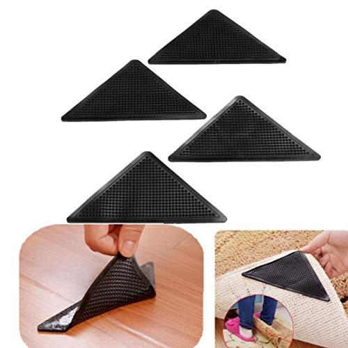 4 Stück Teppich Greifer, Teppich Corner Greifer Wiederverwendbare Stopper Anti-rutsch-Pads Für Teppichböden/Matte Wohnaccessoires