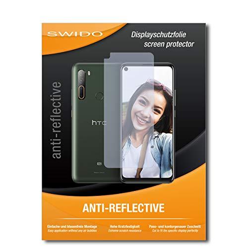 Swido - Protector de pantalla para HTC Desire 20 Pro (2 unidades, antirreflectante, mate)