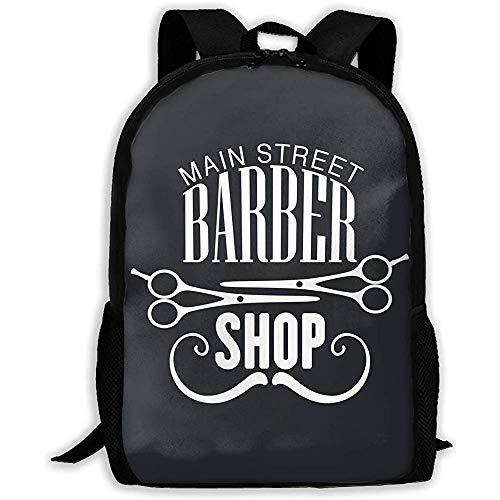 Mochila Escola,Main Street Barber Shop Mochila Deportiva par
