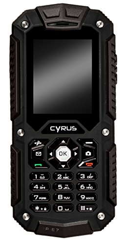 Cyrus CM6 BASIC Outdoor Handy, 1700 mAH Akku, Taschenlampe, 32MB, Dual SIM, 1,3 MP Kamera, stoßfest, staubdicht, wasserdicht, schwarz