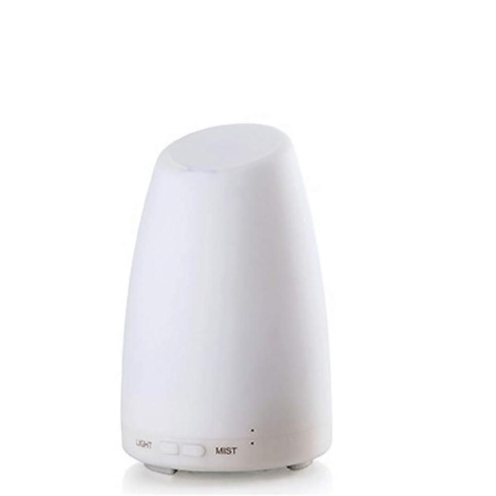 白菜落ちた誘うエッセンシャルオイルディフューザー、霧コントロール4h 使用、低水自動シャットダウン、7種類の LED ライト、家庭、オフィス、寝室、家族のベビールームとの超音波 100 ml アロマディフューザー