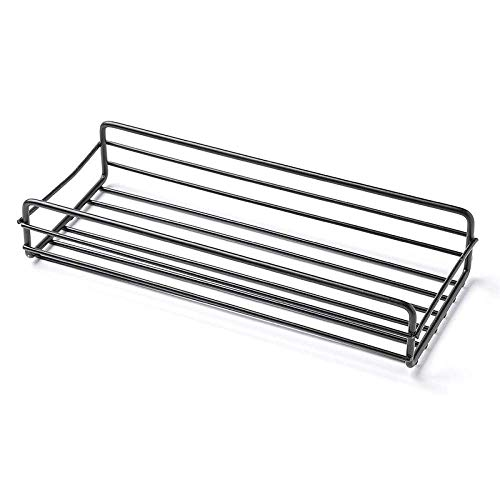 IUYJVR Bathroom Accessories- Adhesive Sticker Included - Punch-Free Multifunctional Iron Bathroom Shelf-White