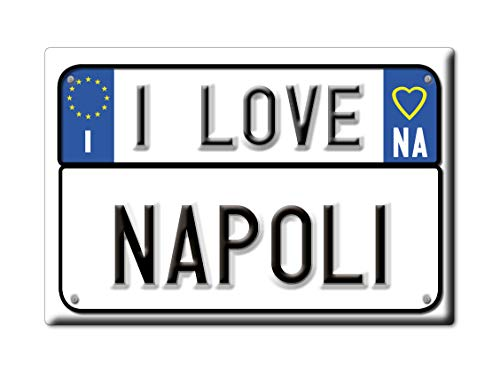 Enjoymagnets Napoli CALAMITA Magnete Campania (NA) Italia Fridge Magnet Souvenir I Love (VAR. Targa)