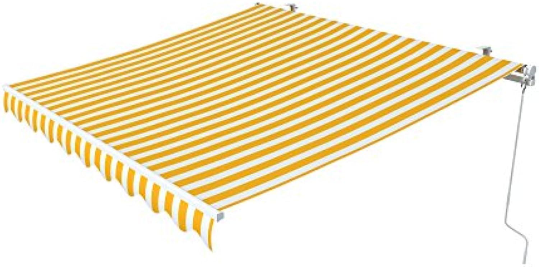 Paramondo Gelenkarmmarkise Easy, 2,5 x 2 m, Stoff  Block, gelb-wei