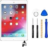Flylinktech iPad mini1/2 タッチパネル 品番A1432 A1454 A1455 A1489 A1490 A1491に適用 液晶パネル フロントパネル iPadガラス割れ修理交換用 修理ツールつき (iPad mini1/2, ホワイト)
