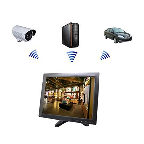 Sourcingbay YT10 CCTV Monitor 9.7 inch TFT LCD Screen with AV, HDMI, BNC, VGA Input for PC Security Cam CCTV DVR System Pixels 1024 x 768 (Black)
