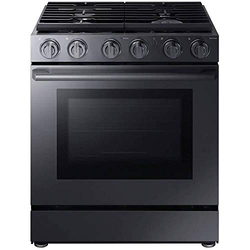 Find Bargain Samsung NX58M9960PM Chef Collection 5.8 Cu. Ft. Matte Black Stainless Gas Range NX58M99...