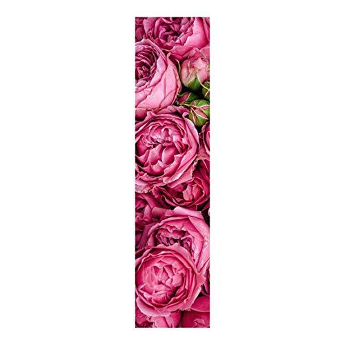 Bilderwelten Cortina deslizable Set - Pink Peonies - Panel japonés Montaje de Pared 250x60cm