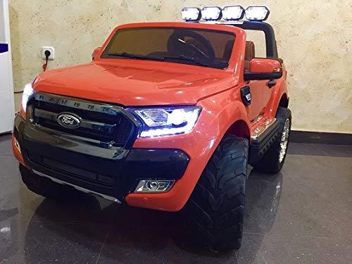 RIRICAR Ford Ranger Wildtrak 4X4 LCD Luxury, Coche eléctrico para niños, 2.4Ghz,...