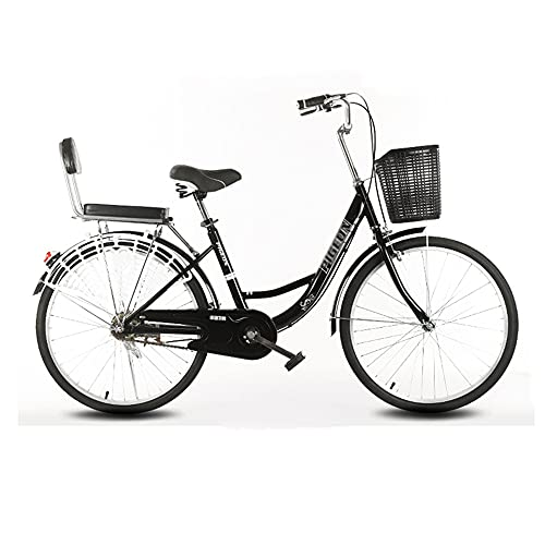 Bike, Retro Fashion Commute Bicycle, Single Speed 26 inch Leisure Bike, Adjustable Seat, Low-Span Frame, for Office Workers/Students/B / 168x110cm