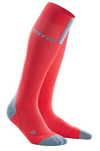 CEP Run Socks 3.0 para hombre | Medias de compresión con impresión precisa en lava/gris, talla V