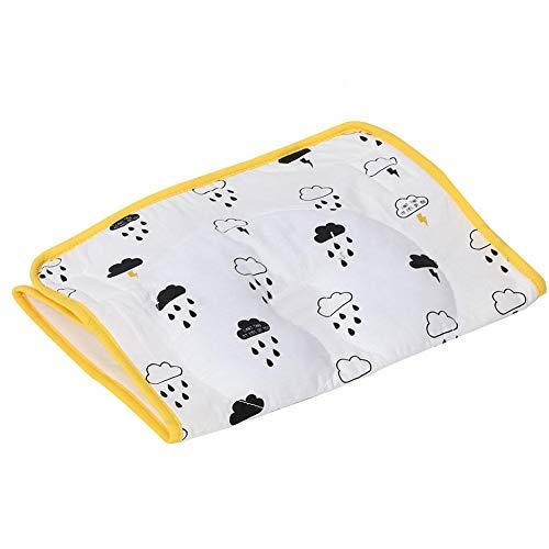 Cuscino per culla impermeabile, fasciatoio riutilizzabile Materasso per bambino portatile Materasso lavabile per lettino per bambini 64 x 35 cm(Gatto)